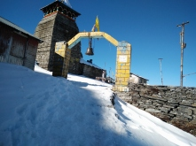 The temple Gates at Tungnath